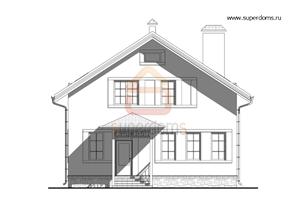 Проект квадратного кирпичного дома